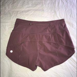 Lululemon high rise shorts. Pink. Size 6.